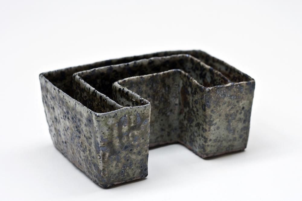 KyungWon Baek, BORREBY 02, w13.5xd9xh6(cm),stoneware, handbuilding, wood-soda firing, 2014