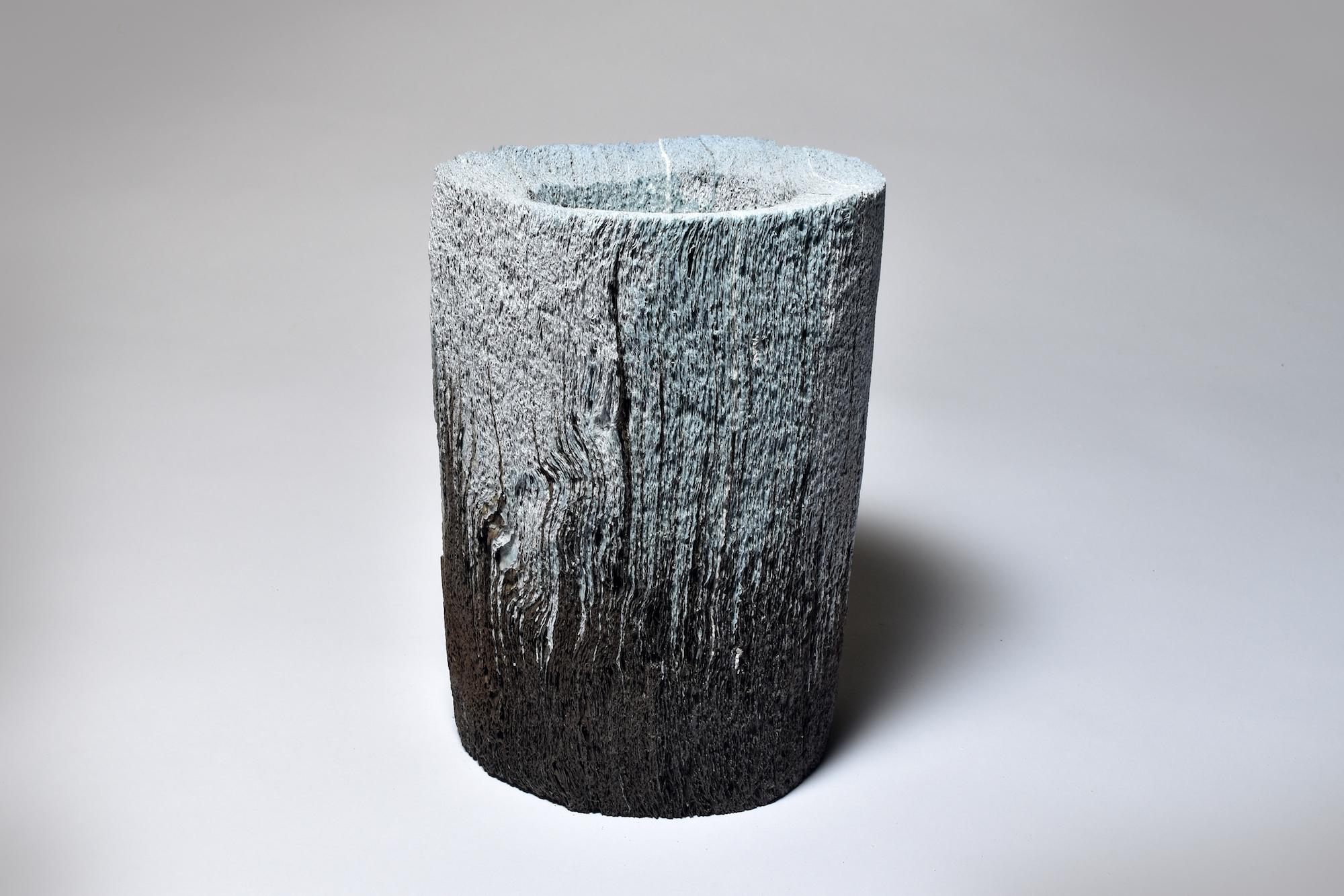 Jongjin Park, Artistic Stratum_B4B1, 1000 sheets of tissue paper, porcelain with stain, Dimensions (W x D x Hcm): 11x13x21cm, 2016