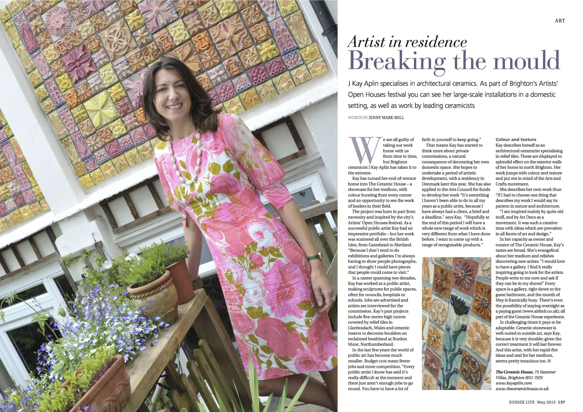 Sussex Life article 2013