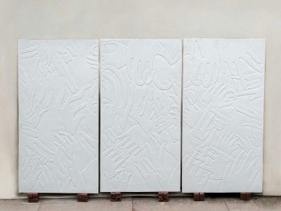 Gerald Mak hands triptych