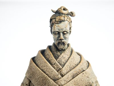 Jenny Chan, Pondering Monk, toasted stoneware, oxides, 2020, photo Jo Ritchie