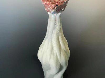 Rong Sheng, Flower, porcelain, 45 x 10 x 10, 2021